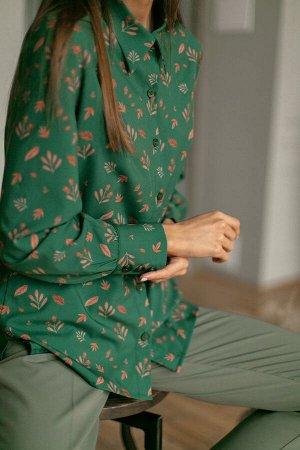Блузка Джанет №1.Цвет:зеленый
