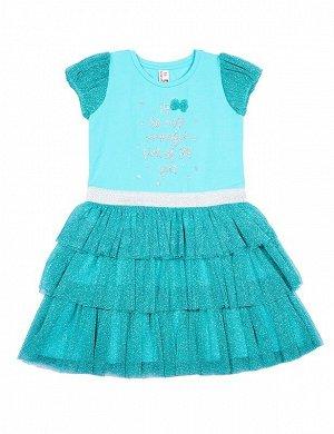Платье д/д CAK 61680 бирюзовый