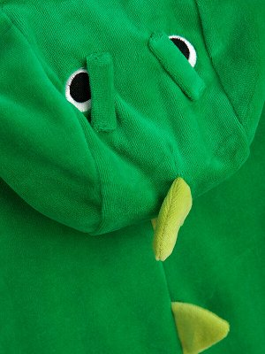 Кигуруми Состав: 75% хлопок, 25% полиэстер  Сезон: Осень, Зима, Весна  Цвет: зеленый  Год: 2020 Оригинальный комбинезон динозавр • выполнен из приятного на ощупь, мягкого велюра • высокое содержание х