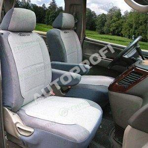 Чехлы AUTOPROFI TRANSFORM для передних сидений, велюр, серый цвет, 10 предметов