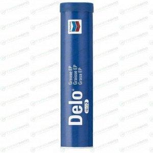 Смазка пластичная Chevron Delo® Grease EP NLGI 2, для подшипников, с литием, синяя, туба 397г