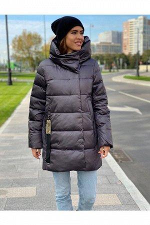 Женская куртка 201 (М53#) темно-серая