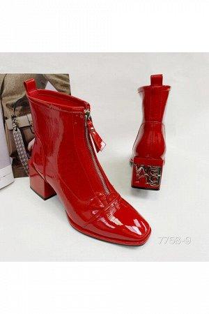 Женские ботинки 7758-9 бордовые