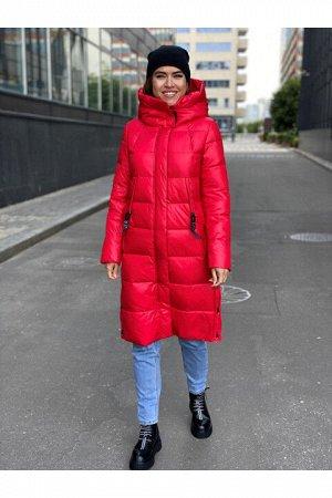 Женская зимняя куртка 211(33) красная
