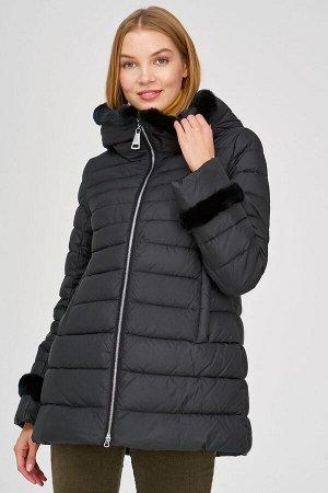 Стеганая куртка с отделкой мехом кролика