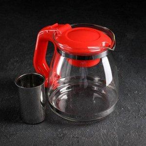 Чайник заварочный, 1,5 л, цвет красный