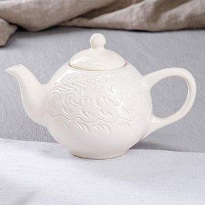 """Чайник для заварки """"Лимф"""", белый, 1.3 л"""
