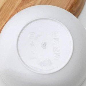 Миска с крышкой «Акварель», 1 л, цвет белый