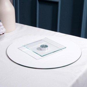 Подставка для торта вращающаяся «Розовые розы», d=28 см