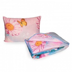 Набор всесезонный (одеяло синтепон 1,5сп+подушка файбер у/ст 50*70) п/э