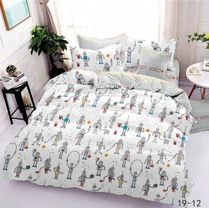 КПБ 1,5 спальный из поплина  РОБОТЫ