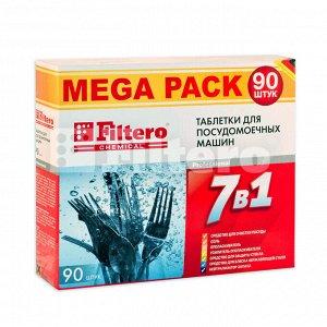 "Filtero Таблетки для ПММ ""7в1"" MEGA PACK 90 шт.,"
