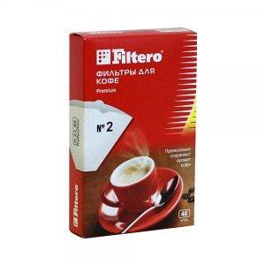 Filtero фильтры для кофе, №2/40, белые