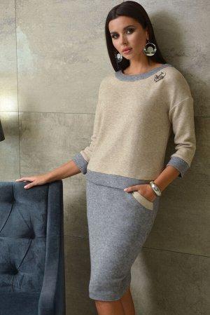 Костюм Костюм Galean Style 786  Состав ткани: Вискоза-65%; Кашемир-35%;  Рост: 164 см.  Длина изделия/рукав: Жакет 53/37, юбка 61