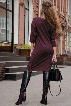 Платье Данный товар можно выбрать по расцветкам: антрацит, бордо ткань: футер с лайкрой 2-х нитка КАРДЕ  состав: хлопок 70%, полиэстэр 24%, лайкра 6 % Модное женское платье из футера 2-х нитки. Издели