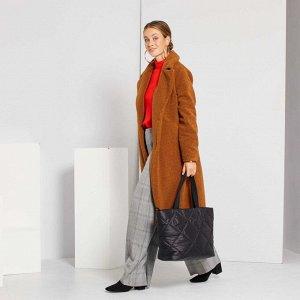 Длинное пальто - коричневый