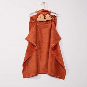 Полотенце-накидка 'лиса' - коричневый