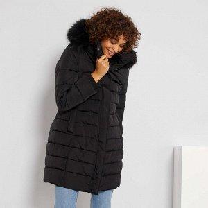 Зимний пуховик - черный