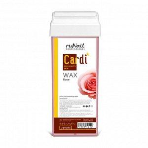RuNail, Воск для депиляции Cardi (аромат: Роскошная роза), 100 мл