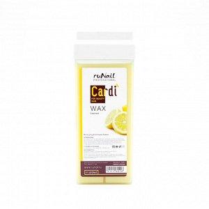 RuNail, Воск для депиляции Cardi (аромат: Ароматный лимон), 100 мл