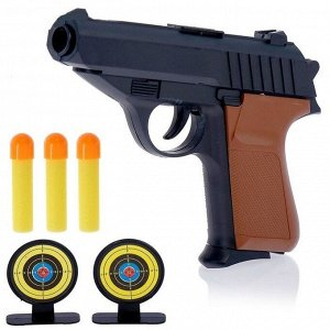 """Игрушечный набор: """"Пистолет с мишенями и пулями"""" (без упаковки)"""