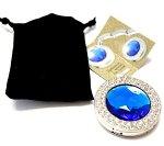 Держатель-крючок для сумок Glamour Гламур (синий)