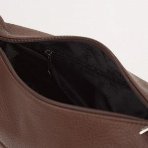 Сумка жен 1066, 27*12*21, отд на молнии, 2 н/карман, регул ремень, коричневый