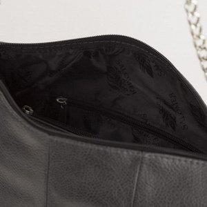 Сумка жен 170, 30*12*29, отд на молнии, н/карман, регул ремень, серый/черный