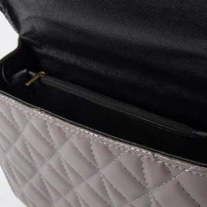 Набор сумок, отдел на клапане, длинный ремень, цепочка, цвет тёмно-серый
