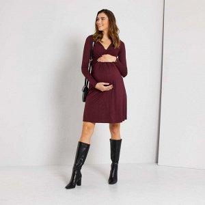 Короткое платье для беременных - красный