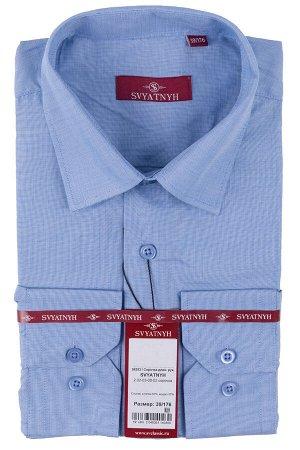 Сорочка Модель: 02 полуприталенная. Цвет: голубой. Комплектация: сорочка. Состав: хлопок-65%, модал-35%. Бренд: Svyatnyh. Фактура: узор. Посадка: полуприталенная.