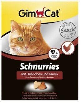 GIMCAT Витамины для кошек Сердечки с курицей и таурином 420 г