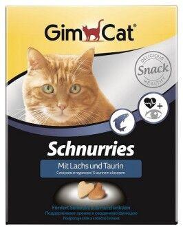 GIMCAT Витамины для кошек Сердечки с лососем и таурином 420 г