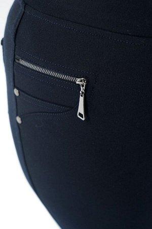Брюки-3343 Материал: Трикотаж с начесом; Фасон: Брюки Брюки дудочки с начесом синие Брюки-стрейч выполнены из плотной мягкой ткани с начесом внутри. Модель отлично сидит за счет комфортной резинки на