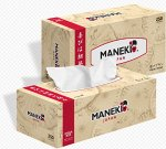 """Салфетки бумажные """"Maneki"""" KABI, 2 слоя, белые, 250 шт./коробка"""