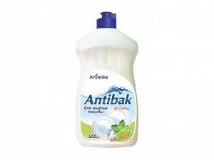 Средство для мытья посуды Antibac de luxe Лайм и мята 500 мл