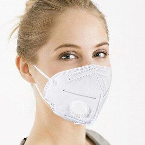 Защитная маска-респиратор KN95 с клапаном
