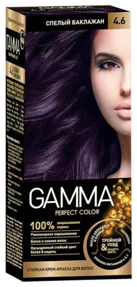NEW Крем-краска GAMMA PERFECT COLOR 100мл д/волос стойкая тон 4.6 Cпелый баклажан (компл.-окисл.6%)