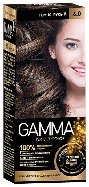 NEW Крем-краска GAMMA PERFECT COLOR 100мл д/волос стойкая тон 6.0 Темно-русый (компл.-окисл.6%)