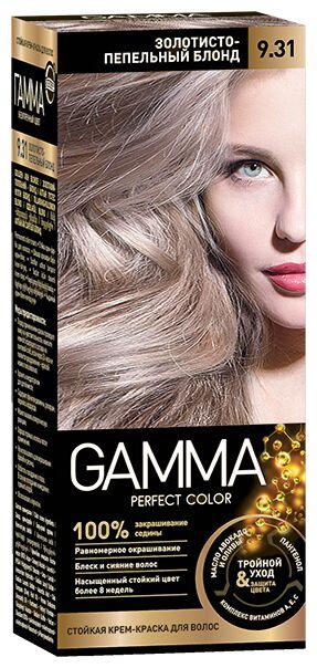 NEW Крем-краска GAMMA PERFECT COLOR 100мл д/волос стойкая тон 9.31 Золотисто-пепельный блонд (компл.-окислит.)