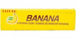 Резинка жевательная КОРЕЯ Банан (Banana) Lotte, пластинки, 12,5г,