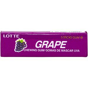 Резинка жевательная КОРЕЯ Виноград (Grape) Lotte, пластинки, 12,5г