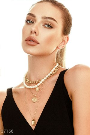 Многоярусное ожерелье с подвесками
