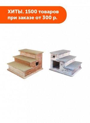 Домик-лестница Ступени, мех, ковролин 44*44*31 см (ТМ Дарэлл)