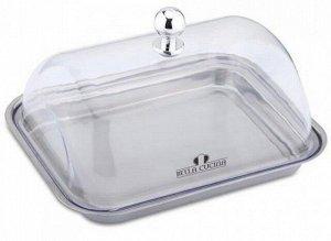 Масленка Bella Cucina Масленка  Материал: нержавеющая сталь, пластиковая крышка    Размер:14,7х11,5х8,3 см Упаковка: цветная коробка