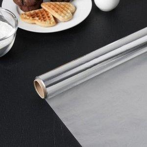 Фольга алюминиевая бытовая «Саянская. Универсальная», ширина 29 см, 11 мкм, рулон 25 м