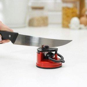 Точилка для ножей на присоске Доляна, 6?6 см, цвет МИКС