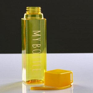 """Бутылка для воды """"My bottle"""" 450 мл, прямоугольная, 5.5х20 см, микс"""
