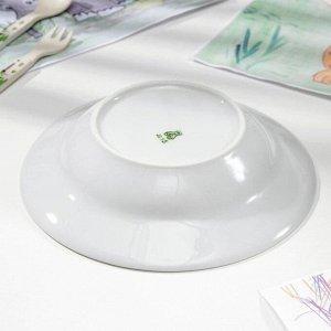 Тарелка глубокая Добрушский фарфоровый завод «Лягушка», d=20 см, 250 мл