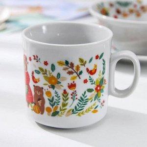 Набор посуды Добрушский фарфоровый завод «Мишкины сказки», 3 предмета